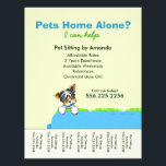 """Pet Sitter Ad Yorkie Couch Green Tear Sheet<br><div class=""""desc"""">Promote your pet sitting business with these full color eye-catching flyers that you personalize with your own info. Original design by Andie, illustrator and creator of Off-Leash Art™, featuring her hand drawn Biewer Yorkie illustration on bright blue couch. To change the background color, click the orange &quot;customize it!&quot; button below...</div>"""