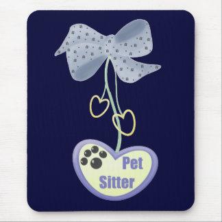 Pet Sitter (blue dangle) Mouse Pad