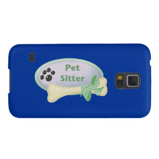Pet Sitter (blue with bone) Galaxy S5 Cover