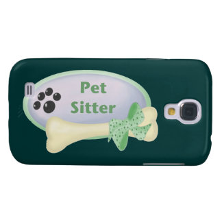 Pet Sitter (blue with bone) Galaxy S4 Cover