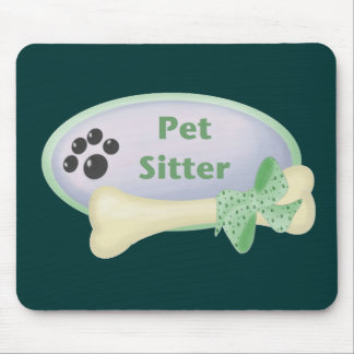 Pet Sitter (blue with bone) Mouse Pad