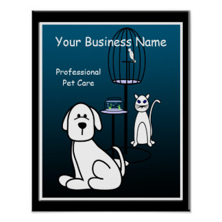 Pet Sitter Boarding Business Sign Poster
