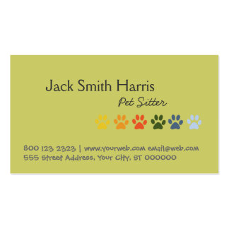 Pet Sitter Bold and Elegant Business Card
