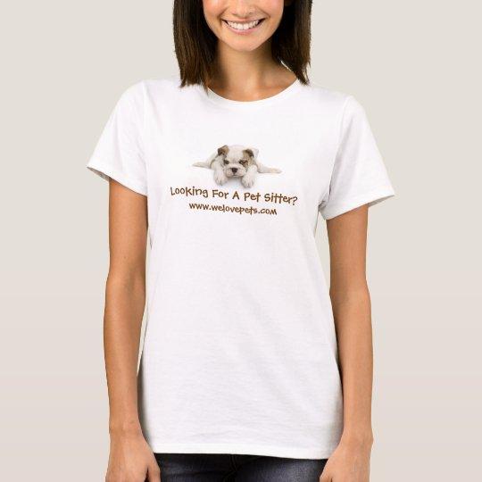 Pet Sitter Bulldog tee shirt