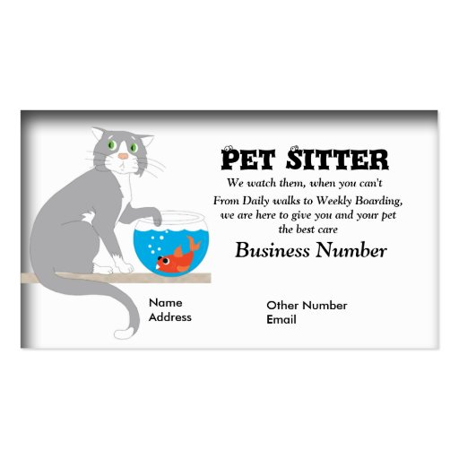 Pet sitter business card zazzle for Pet business cards