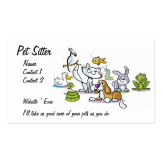 Pet Sitter Double-Sided Standard Business Cards (Pack Of 100)