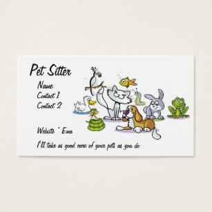 Pet sitter business cards templates zazzle pet sitter business card colourmoves