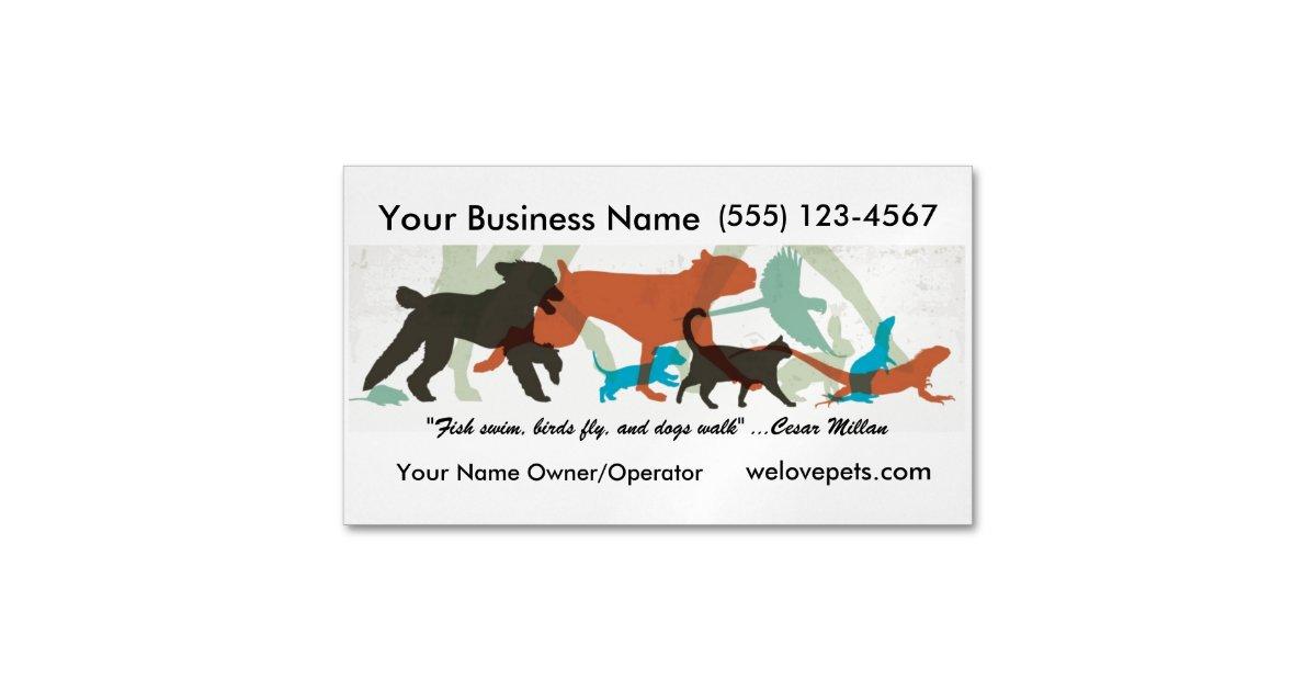 Pet Sitter Business Card Magnet Fish Swim theme | Zazzle.com
