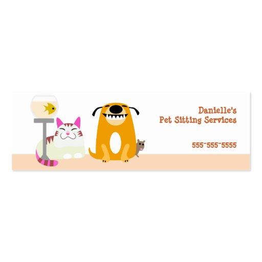 Pet business card templates pet sitter business card templates zazzle colourmoves