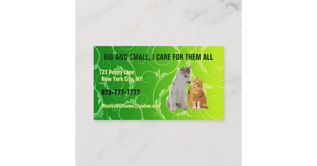 Pet sitter business cards | Zazzle.com