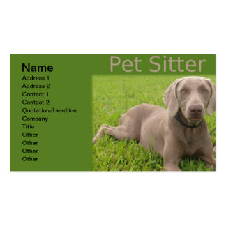 Pet Sitter Business Cart Double-Sided Standard Business Cards (Pack Of 100)