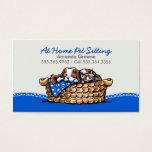 Pet Sitter Business CKCS w/ Cat Blueberry Business Card