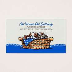 Pet Sitter Business Ckcs W/ Cat Blueberry Business Card at Zazzle