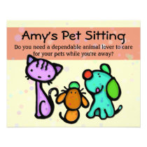 Pet Sitter business promotional flyer card