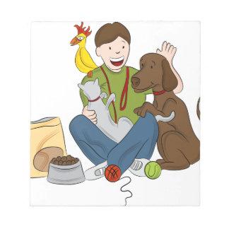 Pet Sitter Cartoon Notepad