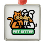 Pet Sitter (Cat & Dog) Christmas Tree Ornaments