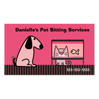 Pet Sitter Dog & Cat Double-Sided Standard Business Cards (Pack Of 100)
