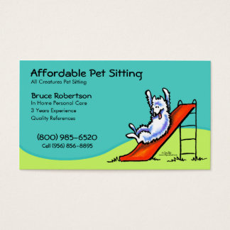 Pet Sitter Dog Day Care Business Business Card