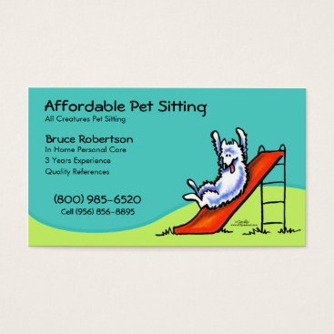 Professional Business Pet Sitter Dog Day Care Business Business Card