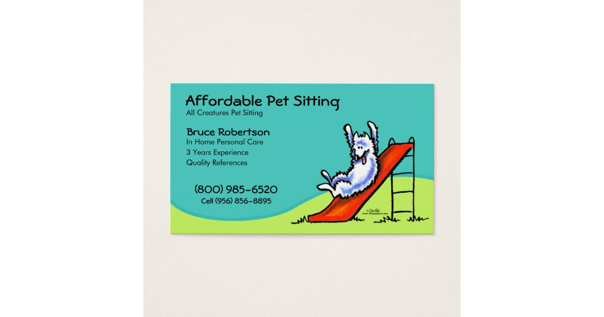 Pet Sitter Dog Day Care Business Business Card | Zazzle.com