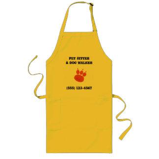 Pet Sitter & Dog Walker Paw Print Long Apron