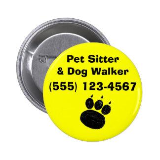 Pet Sitter & Dog Walker Paw Print Button