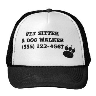 Pet Sitter & Dog Walker Paw Print Trucker Hat