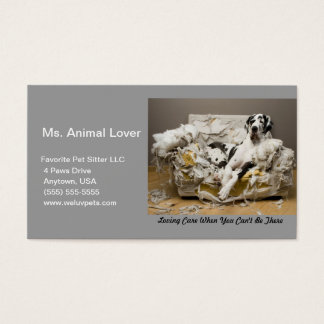 Pet Sitter Great Dane Grey Business Card