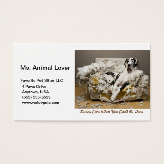 Pet Sitter Great Dane White Business Card