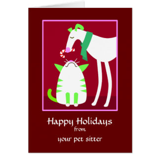 Pet Sitter Holiday Card