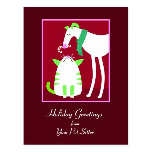 Pet Sitter Holiday Postcard