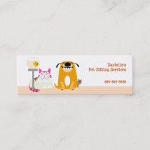Pet Sitter Mini Business Card