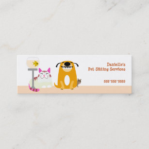 Pet sitter business cards templates zazzle pet sitter mini business card colourmoves