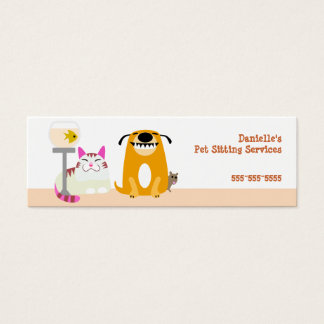 Pet Sitter Mini Business Card