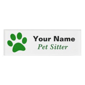 Pet Sitter Name Tag
