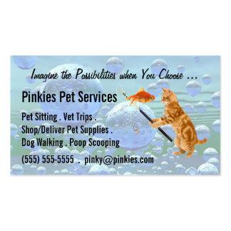 Pet Sitter or Pet Concierge Business Tabby Dreams Business Card