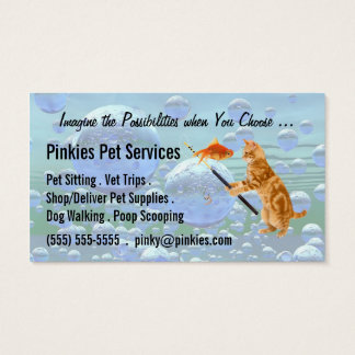Pet Sitter or Pet Concierge Business Tabby Dreams Business Card