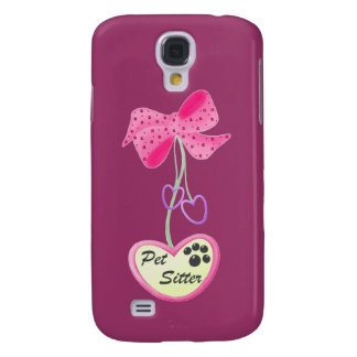 Pet Sitter (pink dangle) Samsung Galaxy S4 Cases