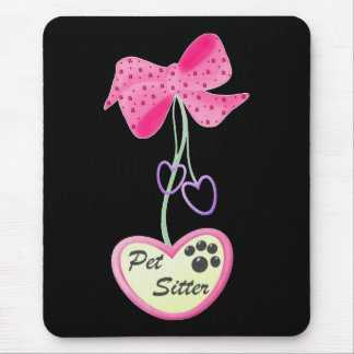 Pet Sitter (pink dangle) Mouse Pad