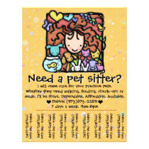 Pet Sitter promotional DEBBIE Flyer