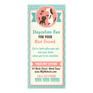 Pet Sitter Rack Card - Personalizable