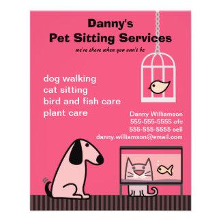 Pet Sitter s Dog Cat Red Full Color Flyer