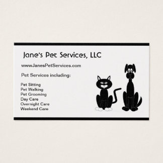 Pet Sitter Sitting Care Walking Grooming Services Business Card