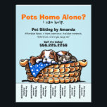 """Pet Sitter Sitting Personalized Tear Sheet<br><div class=""""desc"""">Promote your pet sitting business with these full color eye-catching flyers that you personalize with your own info. Original design by Andie, illustrator and creator of Off-Leash Art™, featuring her hand drawn CKCS &amp; kitten illustration. To change the background color, click the orange &quot;customize it!&quot; button below the product image,...</div>"""