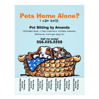 """Pet Sitter Sitting Personalized Tear Sheet 8.5"""" X 11"""" Flyer"""