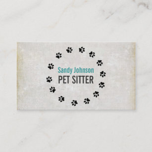 Pet sitting business cards templates zazzle pet sitter sitting services business business card colourmoves