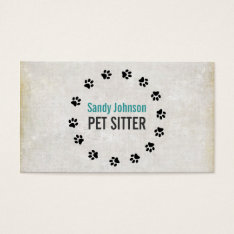 Pet Sitter Sitting Services Business Business Card at Zazzle