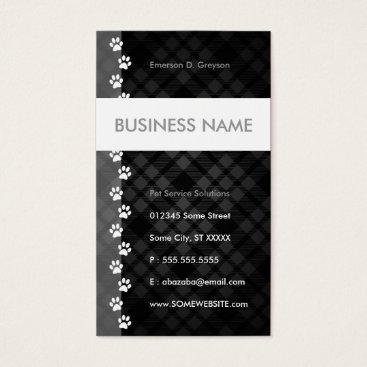 Professional Business pet sitter streamline business card