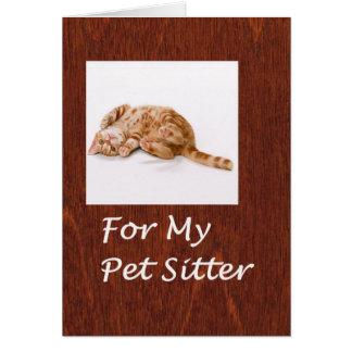 Pet Sitter Thank You Card
