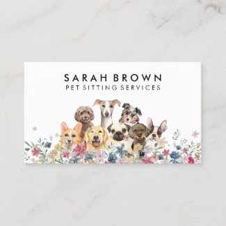 Pet Sitter Walker dog petcare cat Business Card